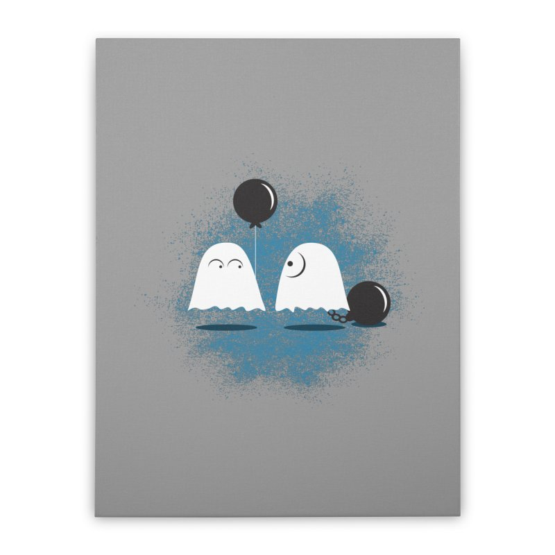 Lazy Ghost Home Stretched Canvas by Teezinvaders