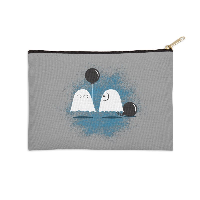 Lazy Ghost Accessories Zip Pouch by Teezinvaders