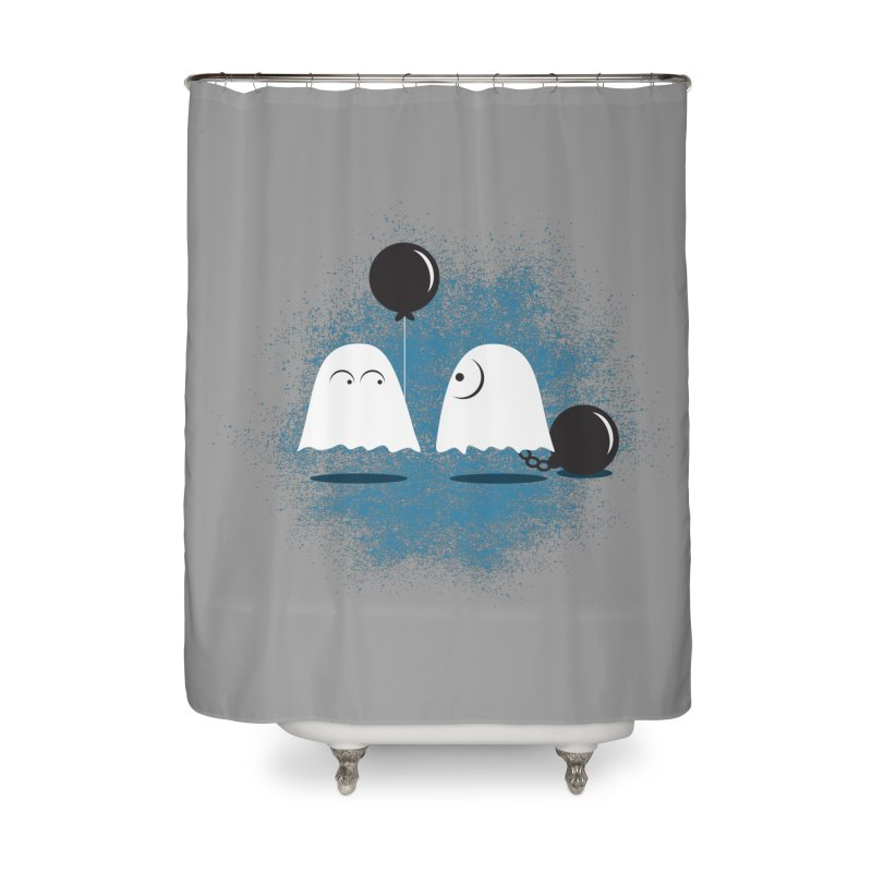 Lazy Ghost Home Shower Curtain by Teezinvaders