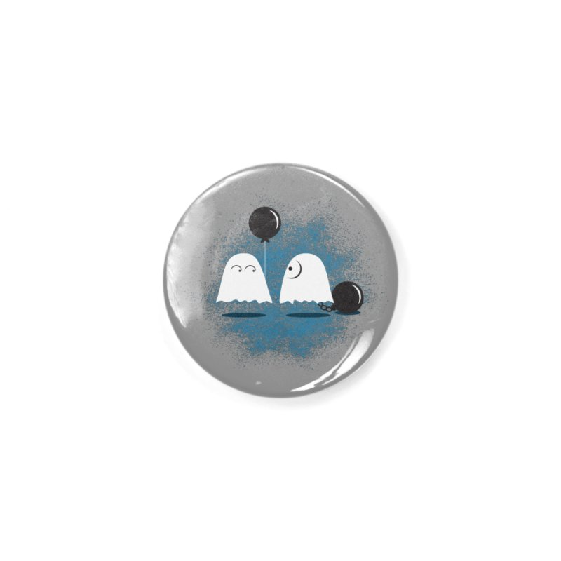 Lazy Ghost Accessories Button by Teezinvaders