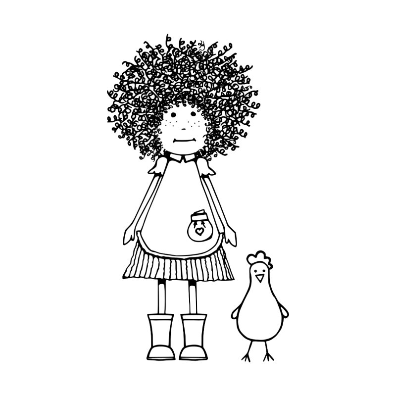 rose and the silly chicken Home Fine Art Print by