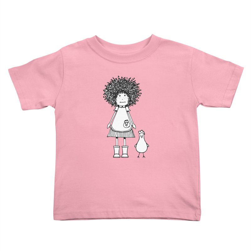 rose and the silly chicken in Kids Toddler T-Shirt Light Pink by