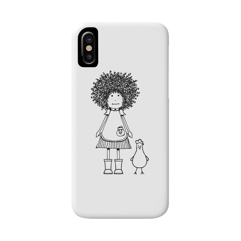 rose and the silly chicken Accessories Phone Case by