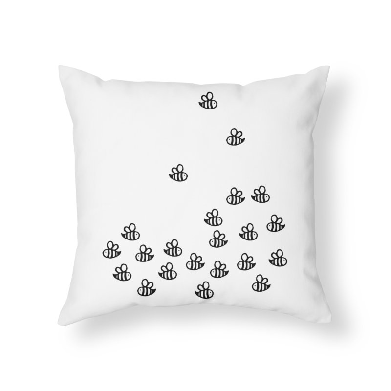 bees bees bee in Throw Pillow by