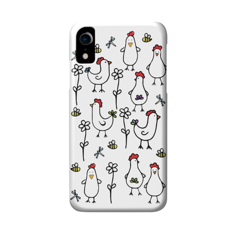 chickens, flowers and bugs everywhere Accessories Phone Case by