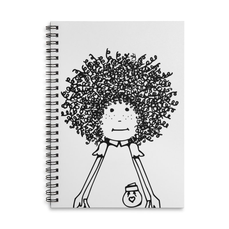 rose, the farm girl Accessories Lined Spiral Notebook by
