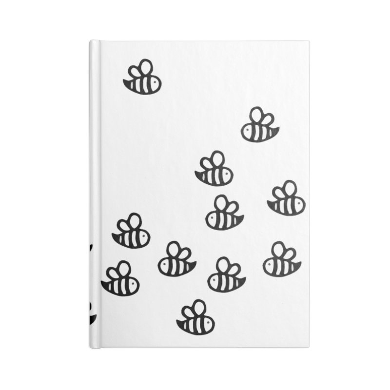 bumble bees in Lined Journal Notebook by