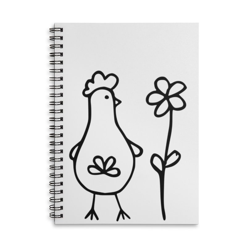 Chicken with flower by