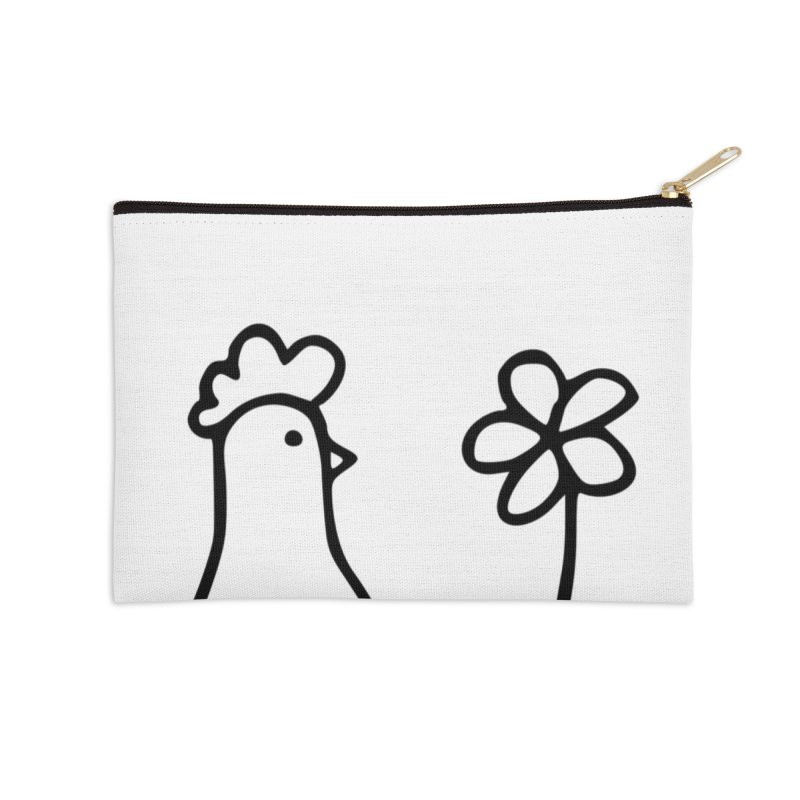 Chicken with flower, the tall one Accessories Zip Pouch by