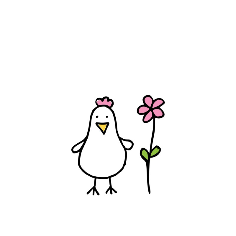 chicken in pink by