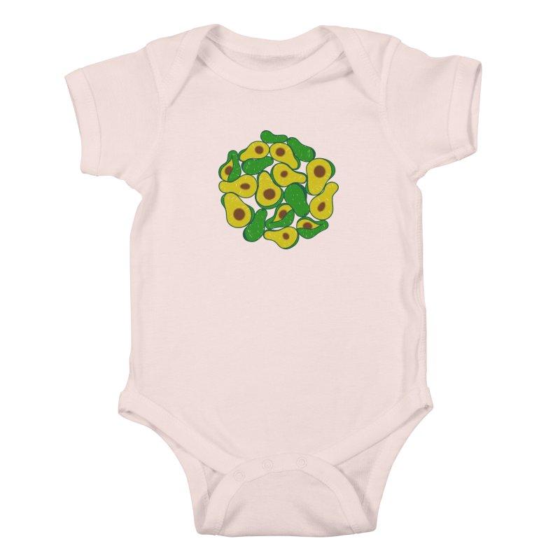 Avocado Lover Kids Baby Bodysuit by Tejedor shop