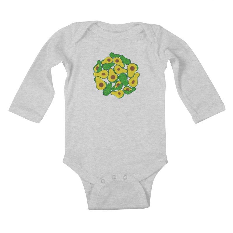 Avocado Lover Kids Baby Longsleeve Bodysuit by Tejedor shop