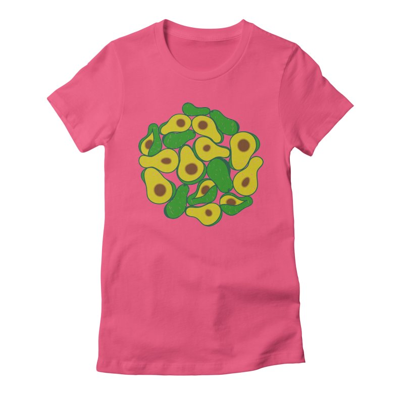 Avocado Lover Women's Fitted T-Shirt by Tejedor shop