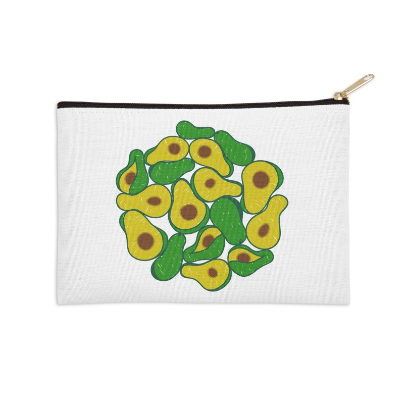 Avocado Lover Accessories Zip Pouch by Tejedor shop
