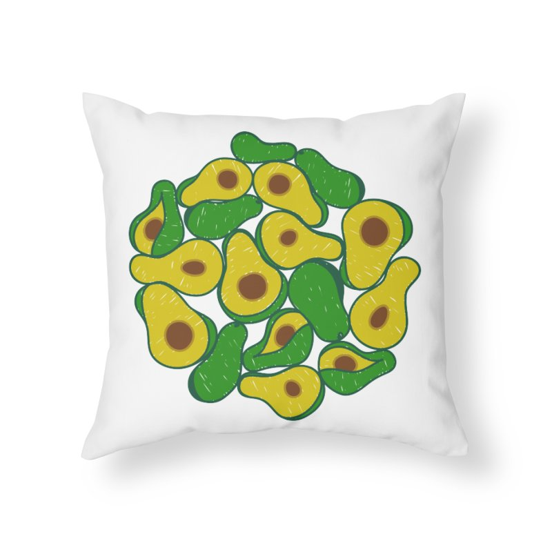 Avocado Lover Home Throw Pillow by Tejedor shop