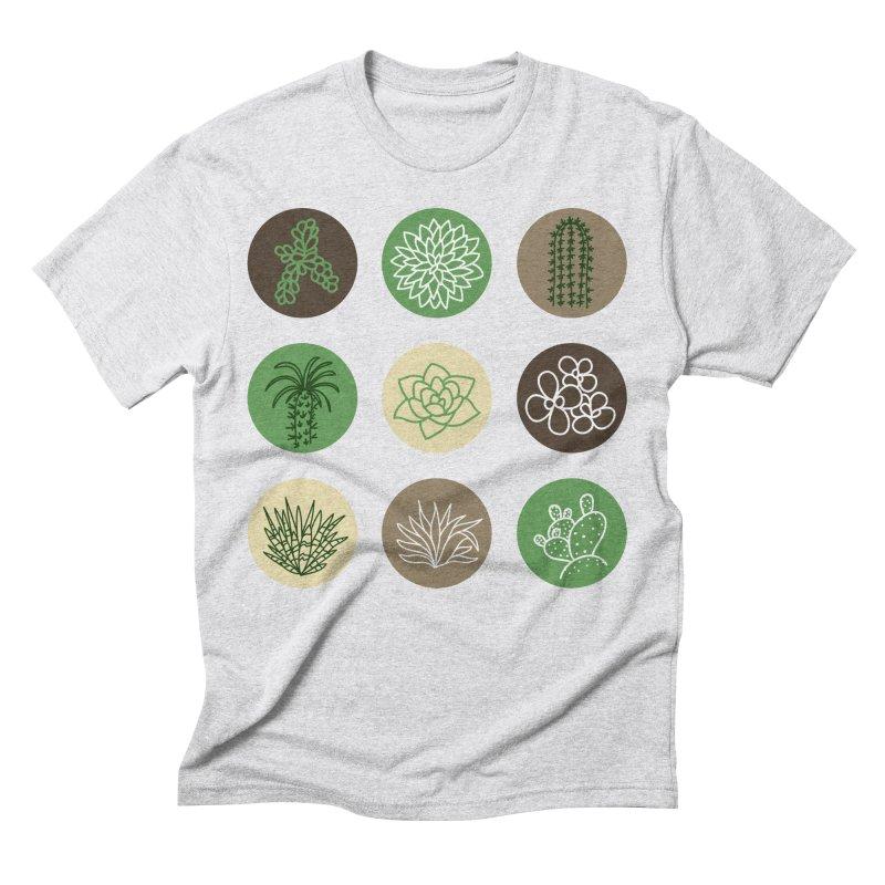 Succulents 1 Men's Triblend T-shirt by Tejedor shop