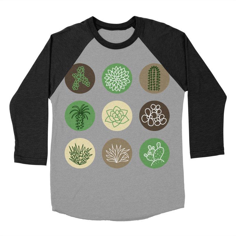 Succulents 1 Men's Baseball Triblend T-Shirt by Tejedor shop