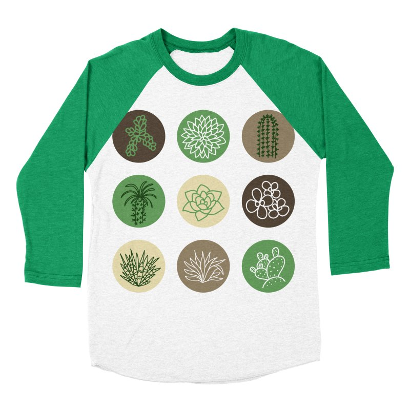 Succulents 1 Men's Baseball Triblend T-Shirt by Tejedor shop