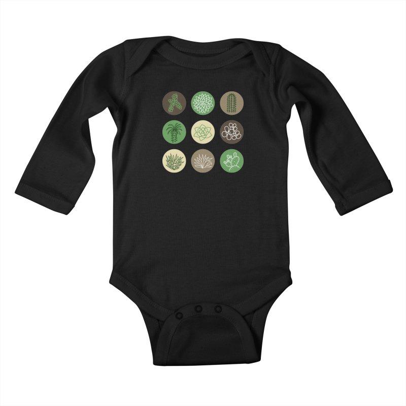 Succulents 1 Kids Baby Longsleeve Bodysuit by Tejedor shop