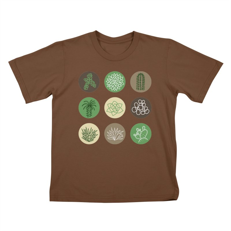 Succulents 1 Kids T-Shirt by Tejedor shop