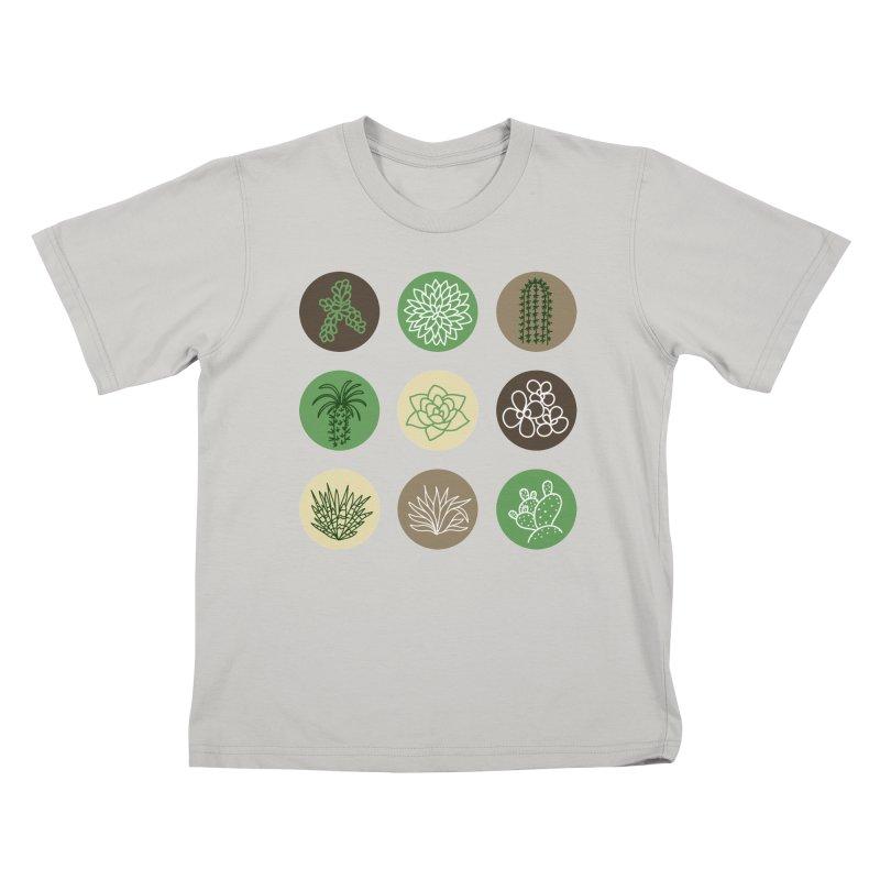 Succulents 1 Kids T-Shirt by Tejedor shop