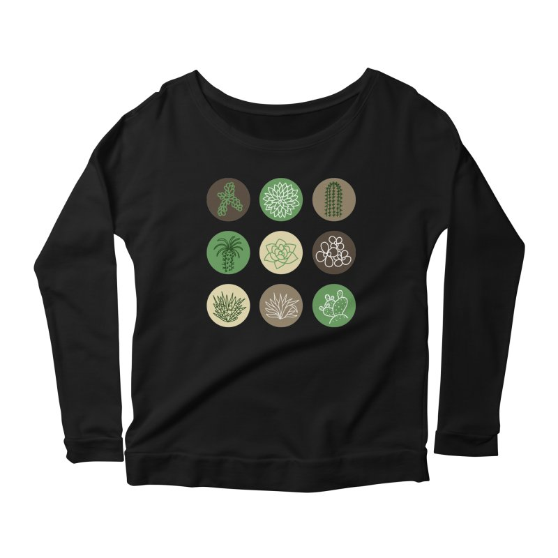 Succulents 1 Women's Longsleeve Scoopneck  by Tejedor shop
