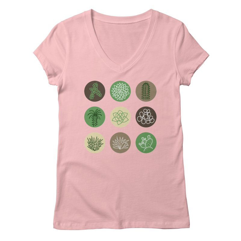 Succulents 1 Women's V-Neck by Tejedor shop