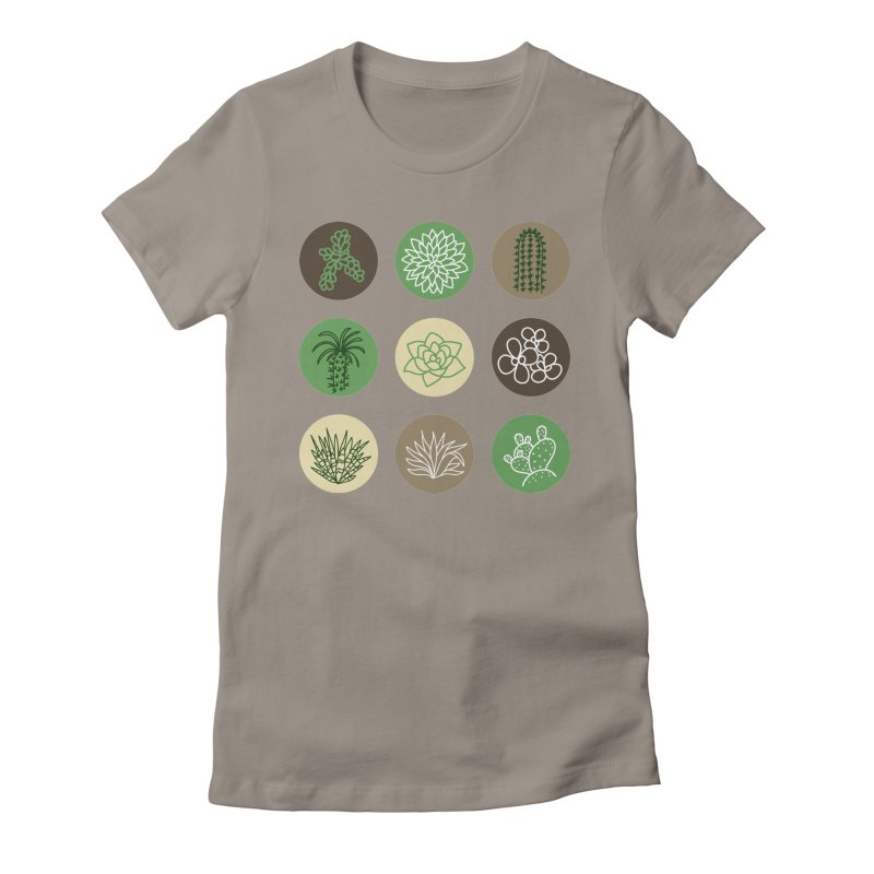 Succulents 1 Women's Fitted T-Shirt by Tejedor shop
