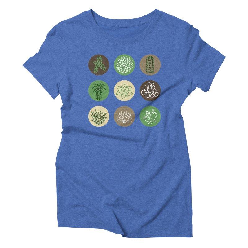 Succulents 1 Women's Triblend T-Shirt by Tejedor shop