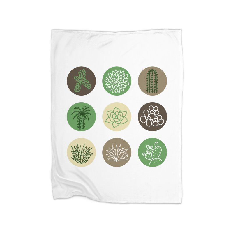 Succulents 1 Home Blanket by Tejedor shop