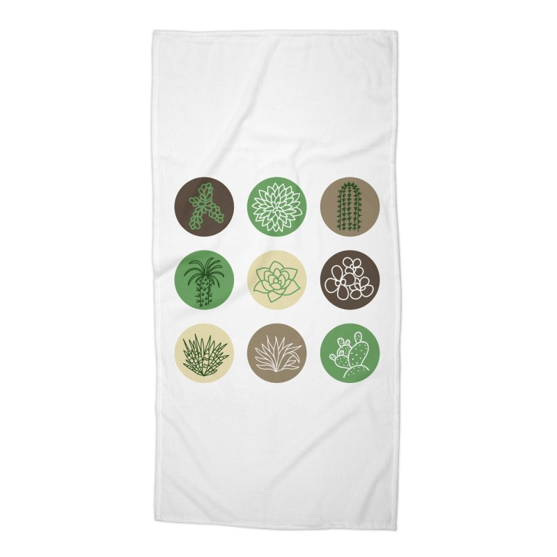 Succulents 1 Accessories Beach Towel by Tejedor shop