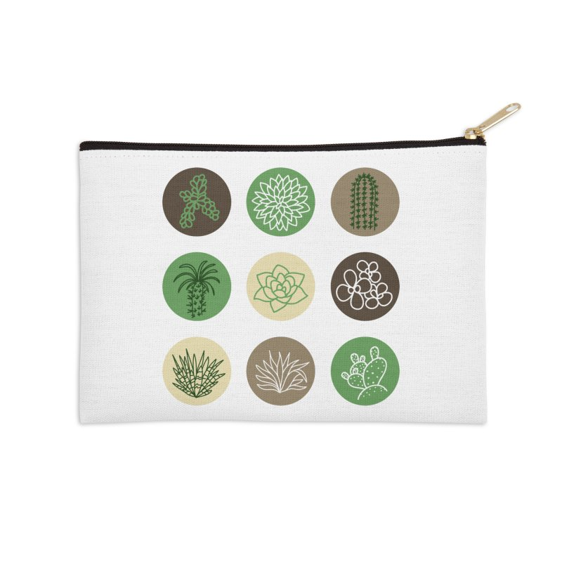 Succulents 1 Accessories Zip Pouch by Tejedor shop