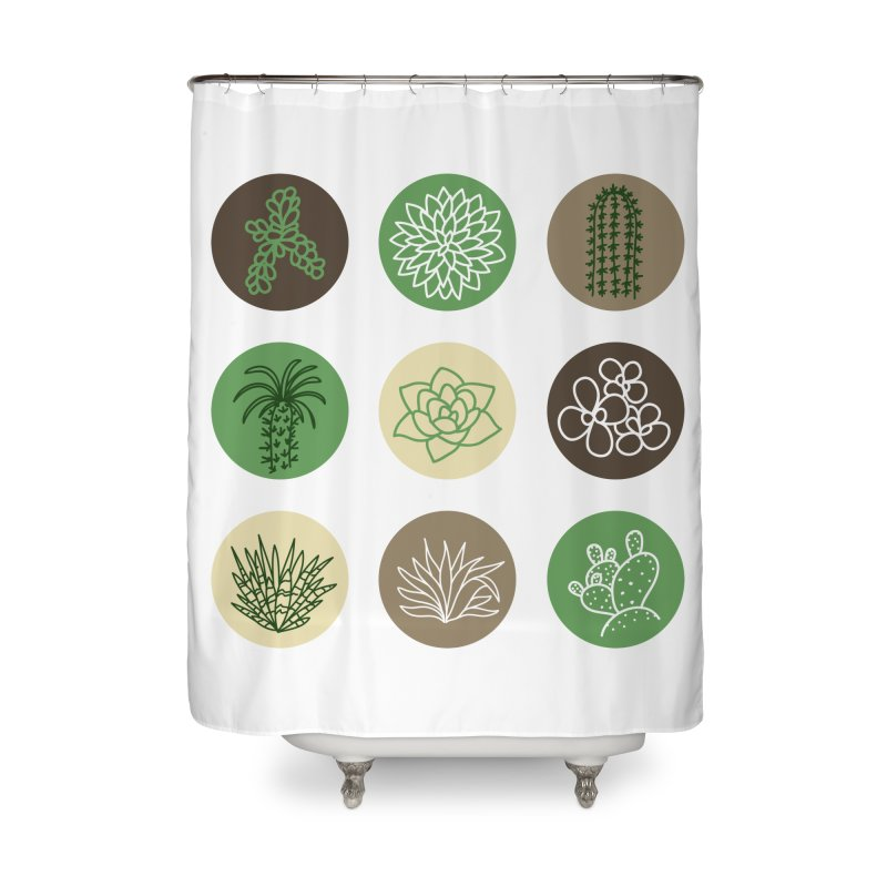 Succulents 1 Home Shower Curtain by Tejedor shop