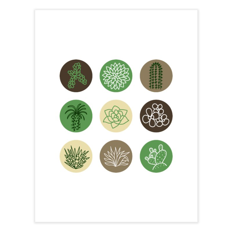 Succulents 1 Home Fine Art Print by Tejedor shop
