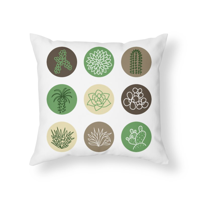 Succulents 1 Home Throw Pillow by Tejedor shop