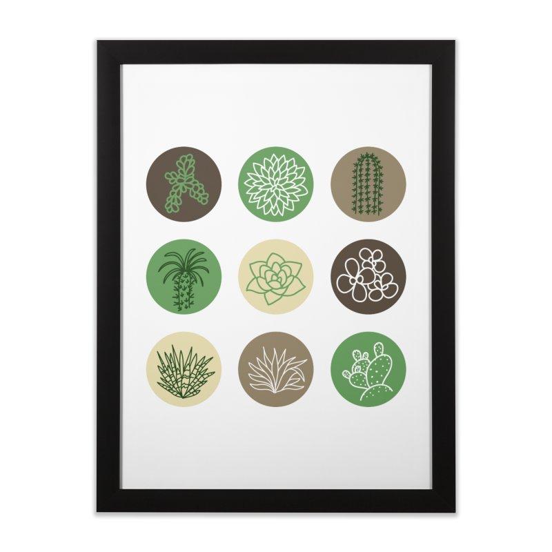 Succulents 1 Home Framed Fine Art Print by Tejedor shop
