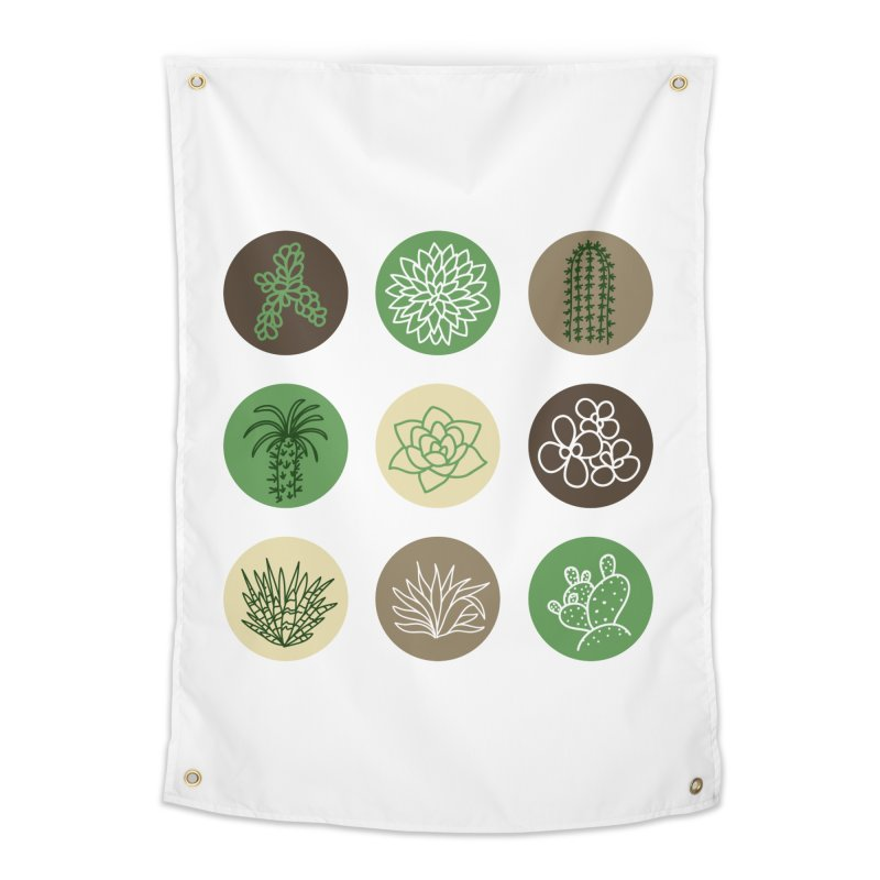 Succulents 1 Home Tapestry by Tejedor shop