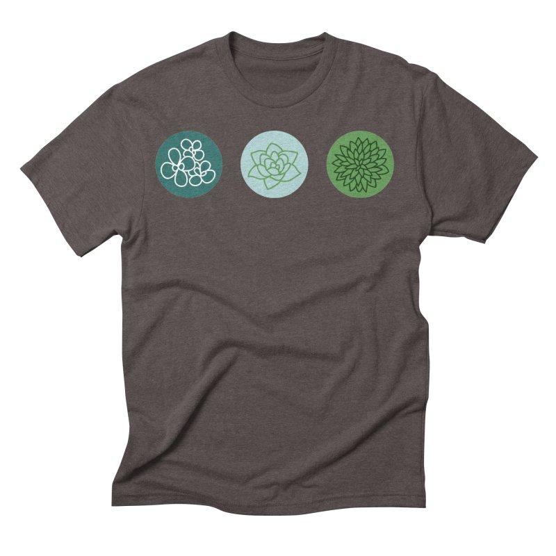 Succulents 2 Men's Triblend T-Shirt by Tejedor shop