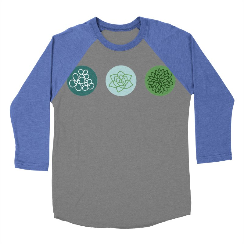 Succulents 2 Men's Baseball Triblend T-Shirt by Tejedor shop
