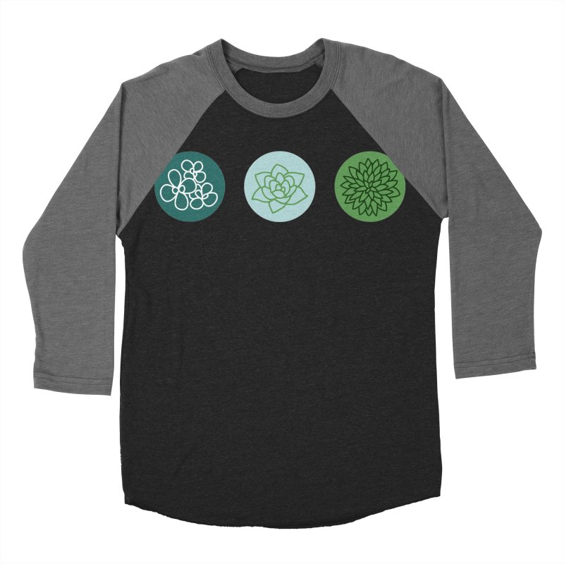 Succulents 2 Men's Baseball Triblend T-Shirt by Tejedor shop