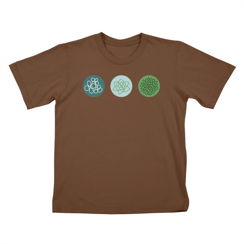 Succulents 2 Kids T-shirt by Tejedor shop