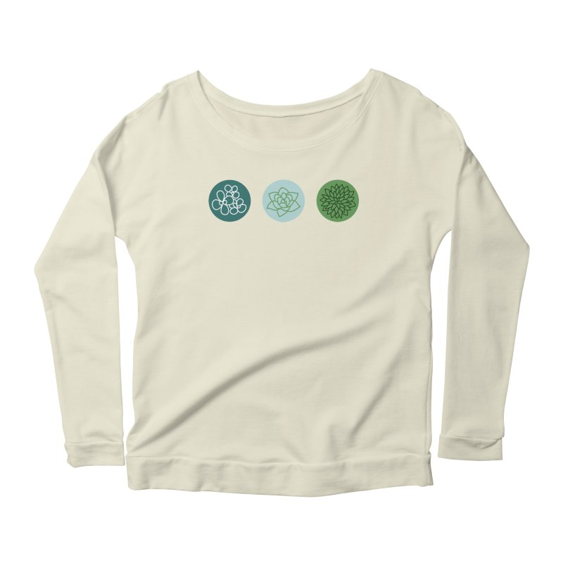Succulents 2 Women's Longsleeve Scoopneck  by Tejedor shop