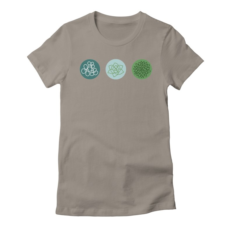 Succulents 2 Women's Fitted T-Shirt by Tejedor shop