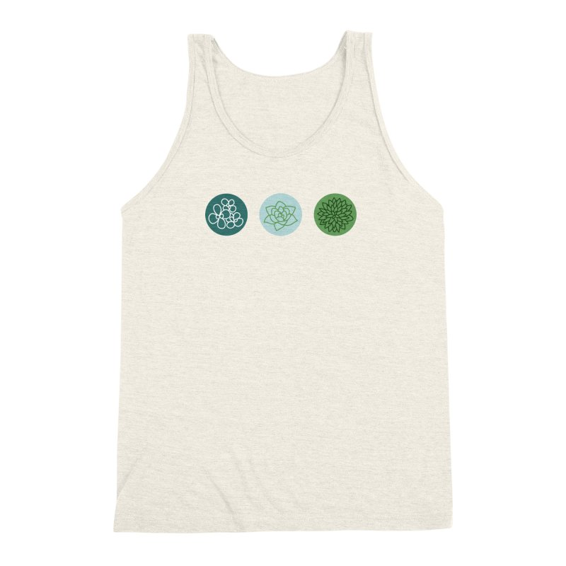 Succulents 2 Men's Triblend Tank by Tejedor shop