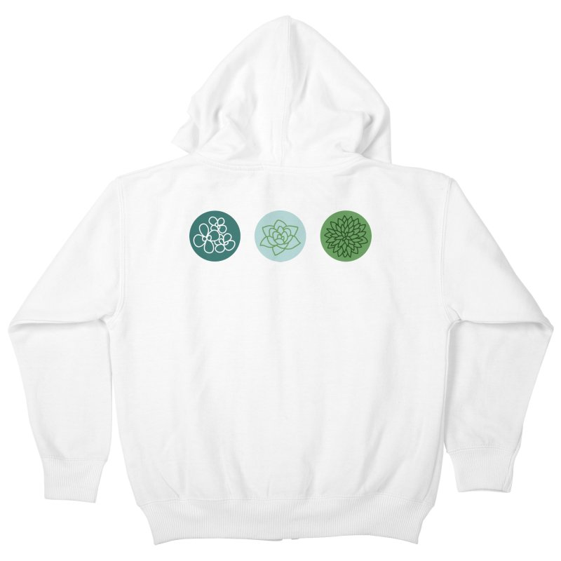 Succulents 2 Kids Zip-Up Hoody by Tejedor shop