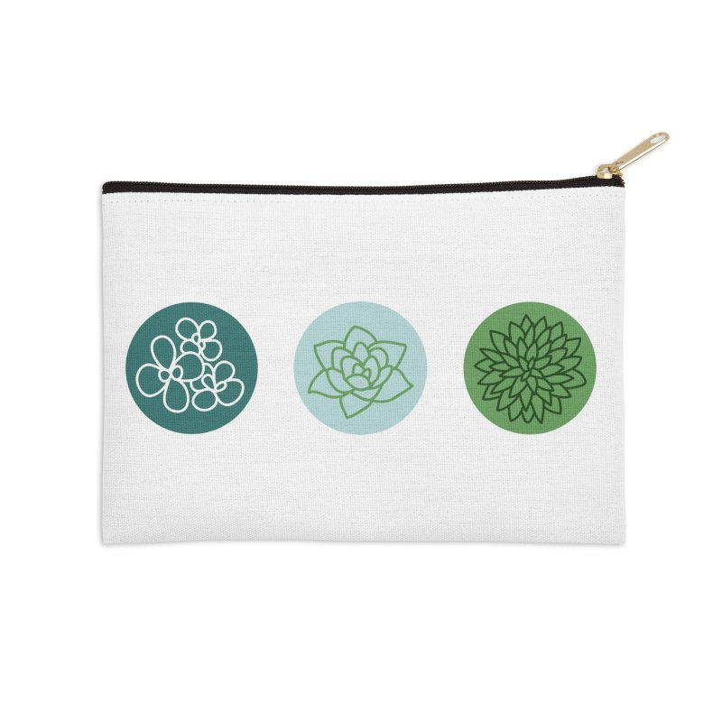 Succulents 2 Accessories Zip Pouch by Tejedor shop