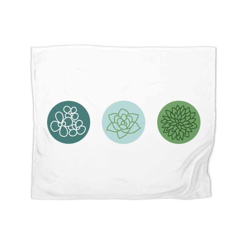 Succulents 2 Home Blanket by Tejedor shop