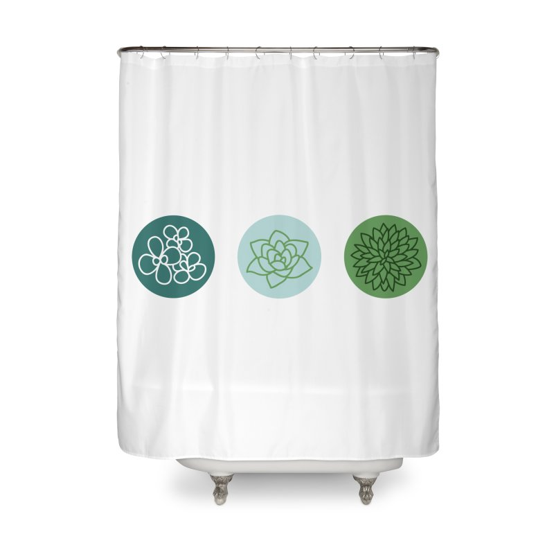 Succulents 2 Home Shower Curtain by Tejedor shop