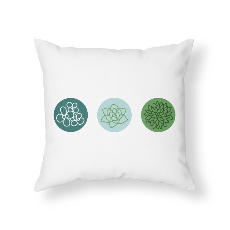 Succulents 2 Home Throw Pillow by Tejedor shop