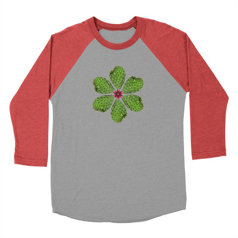Cactus flower Men's Baseball Triblend T-Shirt by Tejedor shop